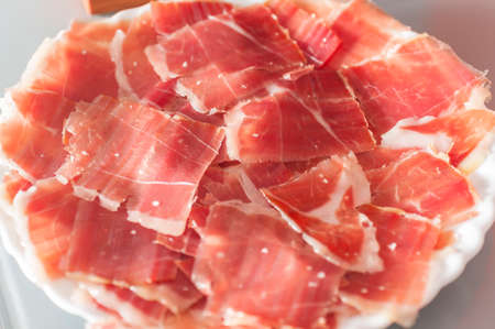 serrano ham from Iberian pigs fed on acorns photo