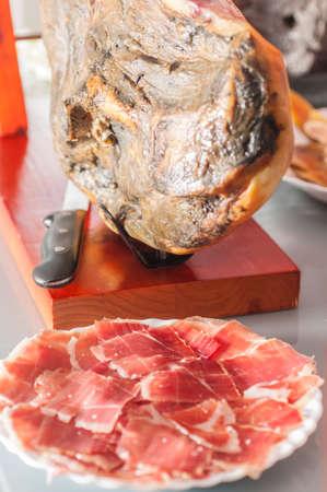 serrano ham from Iberian pigs fed on acorns