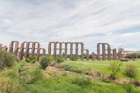 Roman Monuments in Merida Spain photo