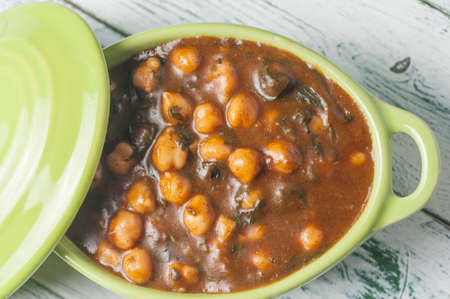 chickpeas with spinach dish Andalusia Spain