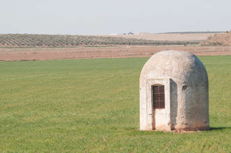 Cistern in the fields of Marchena Andalucia Spain Stock Photo
