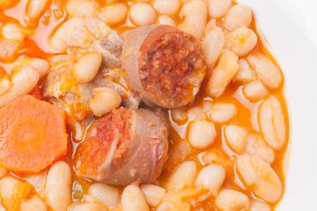 potage: potage of beans with chorizo potatoes typical Andalusia Stock Photo