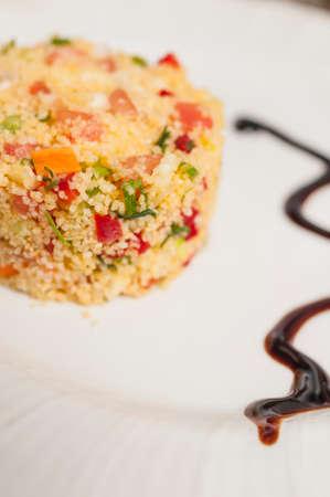 tabbouleh: tabbouleh salad greens and grits