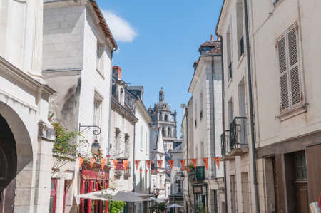 loire: Details of the city Loches Loire France