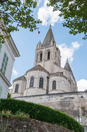 apartment tower old town: Details of the city Loches Loire France