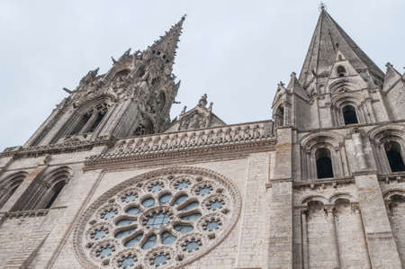 chartres: Details of the Cathedral of Chartres France