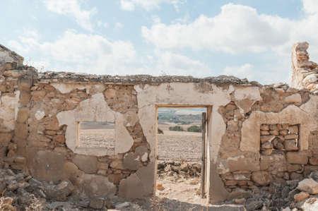 ruined: Ruined farmhouse in Andalucia Spain Stock Photo