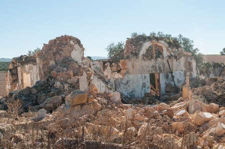 abandoned farmhouse abandoned farmhouse: Andalusian farmhouse abandoned in ruins Stock Photo