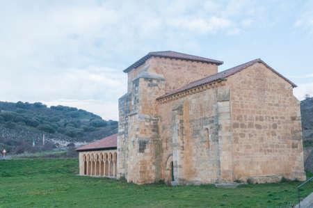 escalation: Monastery of San Miguel de la Escalada Len Spain Camino de Santiago Stock Photo