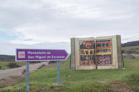 escalation: Monastery of San Miguel de la Escalada Len Spain Camino de Santiago Editorial
