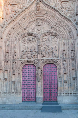 salamanca: Details of the Cathedral and monuments of Salamanca