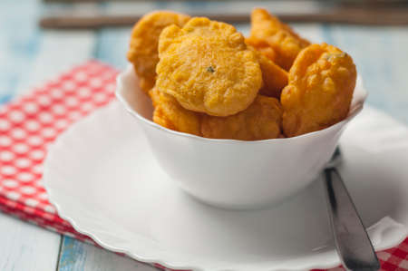 fritters: Cod fritters typical Easter dish in Andalusia Spain