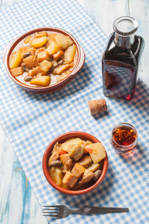 cuttlefish: Cuttlefish stew with potatoes and beans artichokes