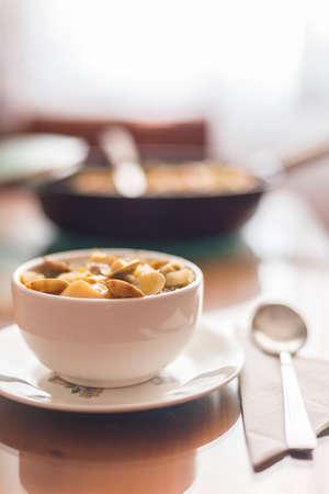 garbanzos: garbanzos sopa de almejas y la col