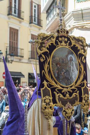 semana: Details holy week in Malaga Andalucia Spain Stock Photo