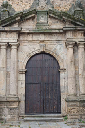 Details of the medieval city of Hervas Caceres Extremadura Spain