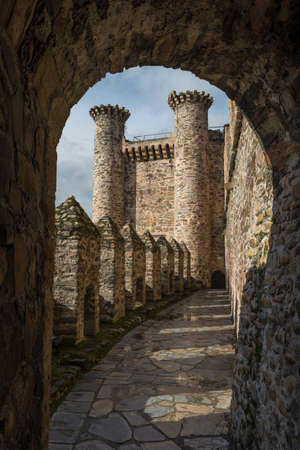 Details of Ponferrada of the province of Leon Spain Banque d'images - 121682047