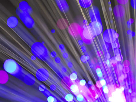 fiberoptic: sparkling multicolor fiber optics abstract background with color circles