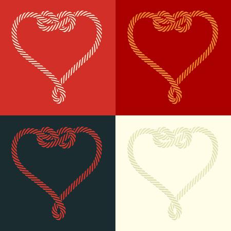 nudo: Cuerda en forma con juego de nudo del coraz�n