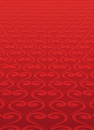 red carpet background: Red background carpet of hearts for Valentine