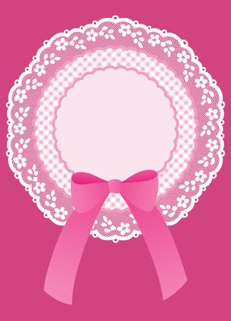 cockade: Pink baby shower invitation with cockade