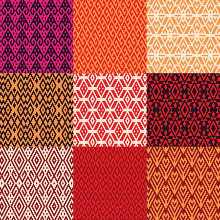 Modello di forme geometriche in stile etnico