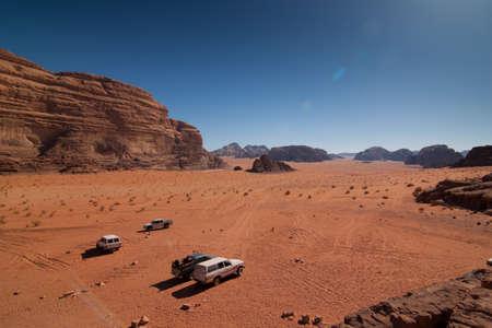 View of the wadi rum desert in Jordan