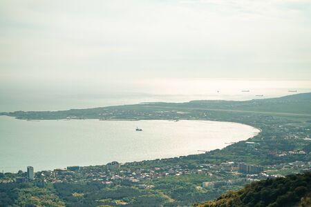 Panoramic view of the resort city of Gelendzhik, Russia