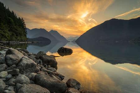Alouette Lake, Golden Ears Provincial Park, Maple Ridge, Vancouver, British Columbia, Canada 版權商用圖片