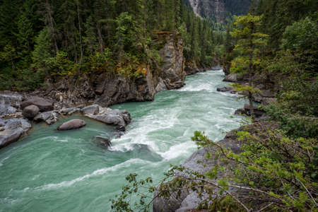 Fraser River at Overlander Falls Trail, Mount Robson Provincial Park, near Valemount, British Columbia, North Thompson