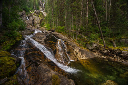 wells: Silver Tip Falls, Wells Gray Provincial Park, North Thompson, near Clearwater, British Columbia, Canada