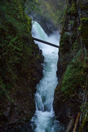 vancouver island: Little Qualicum Provincial Park, Parksville, Qualicum, British Columbia, Vancouver Island, Canada, Waterfall