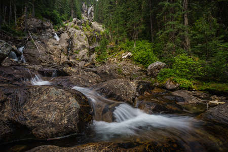 wells: Silver Tip Falls, Wells Gray Provincial Park near Clearwater, British Columbia, Canada