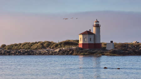 coquille: Coquille River Lighthouse, Bandon, Oregon