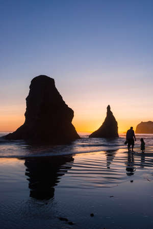 beachcomb: Taken at Bandon, Oregon. Last moments of playtime before sundown.