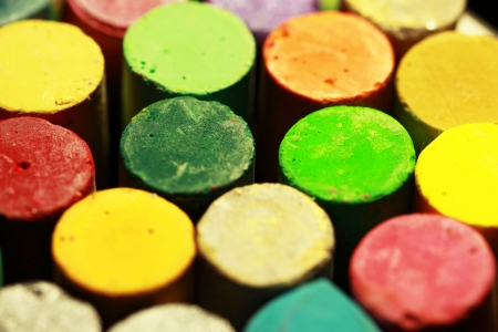 Close up of oil pastels Stock Photo