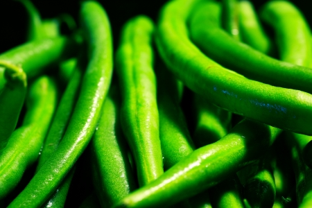 Close up of fresh green beans Stock Photo - 16693489