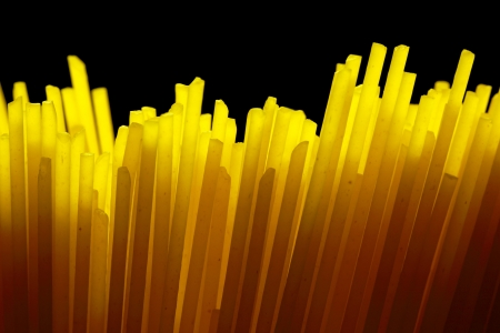 Close up view of uncooked spagetti Stock Photo