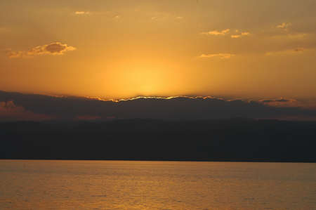Sunset over the Dead Sea 版權商用圖片