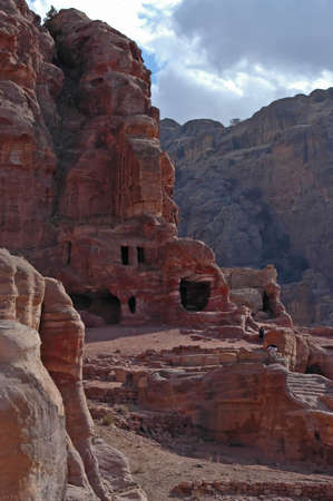 Ancient Ruins in Petra, Jordan