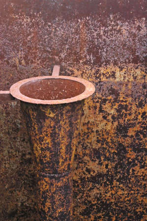 rusting: Rusted piping at an abandoned prison Stock Photo