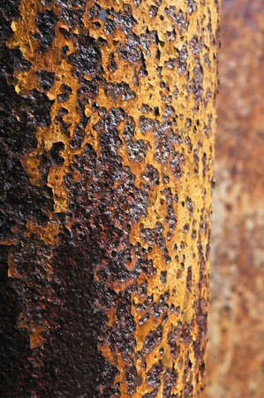Rusty pipe at an abandoned prison photo