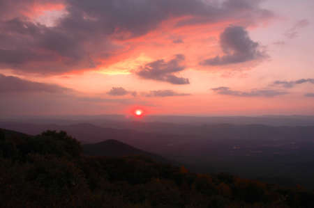 allegheny: Sunset from Reddish Knob, West Virginia Stock Photo
