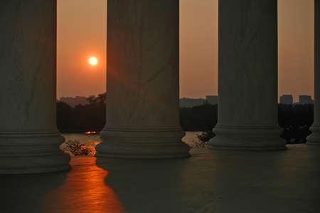 jefferson: Sunset from the Jefferson Memorial