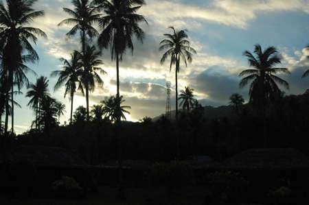koh: Puesta de sol en la playa de Lamai, Tailandia de Koh Samui  Foto de archivo
