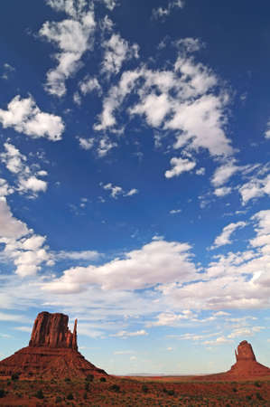 bordering: Monument Valley, Indian Reservation, Bordering Arizona and Utah Stock Photo