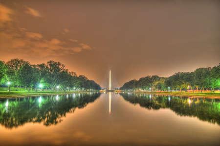 Washington Monument from the reflecting pool HDR, Washington, dc