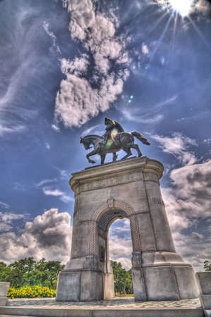 sam: Sam Houston Monument, Houston, Texas, HDR Stock Photo