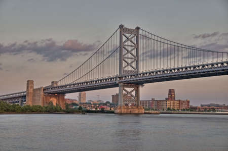 benjamin franklin: Benjamin Franklin Bridge in Philadelphia, PA