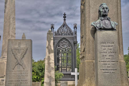 Hollywood Cemetery in Richmond, Virginia Stock Photo